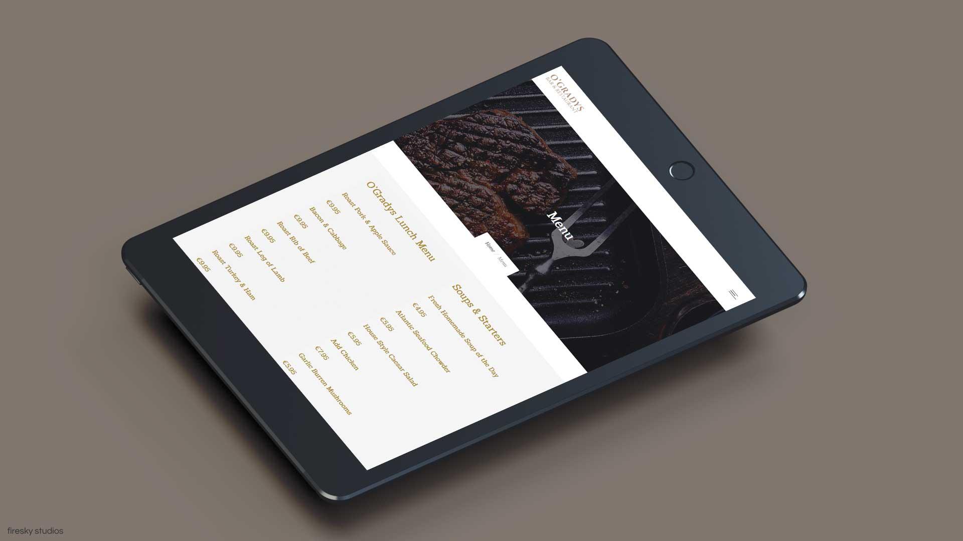 Restaurant-menu-tablet