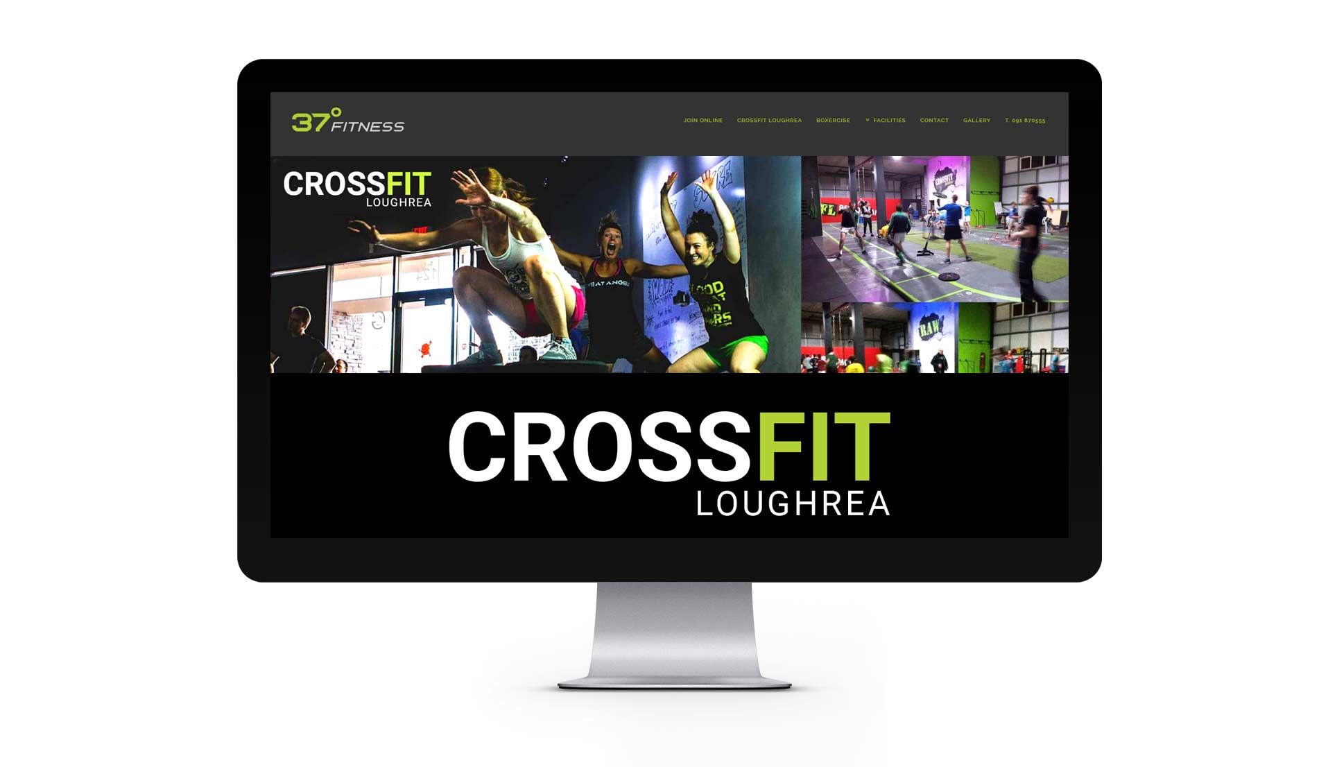 gym website design on desktop