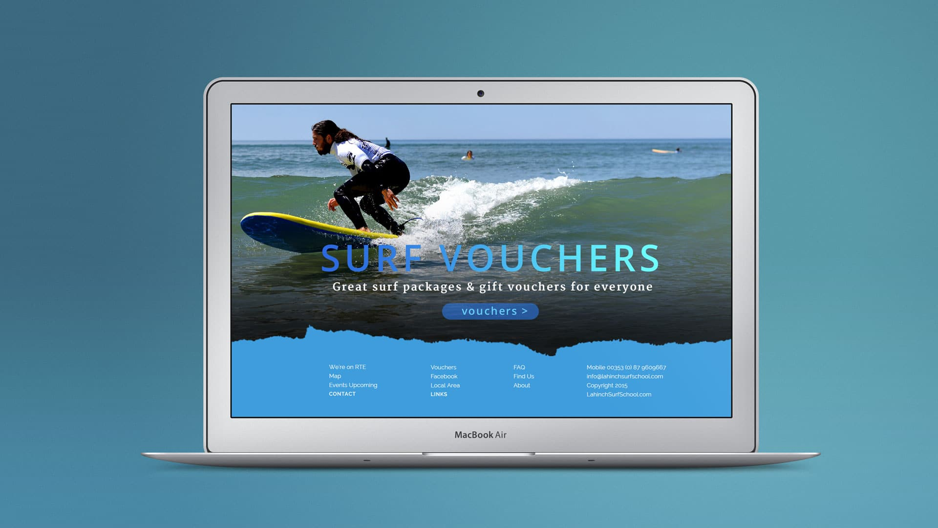 web site design for lahinch surf school