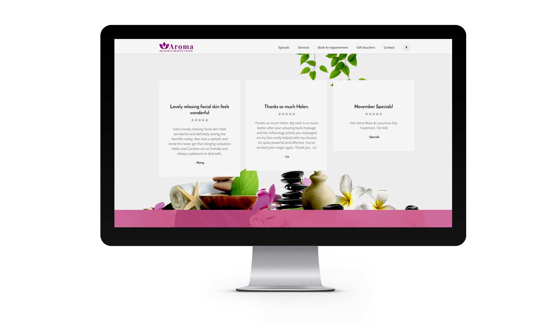 beauty salon redesign website