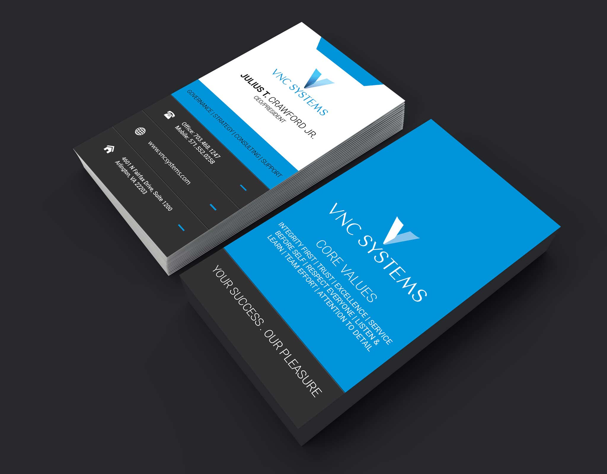business cards front and back layout