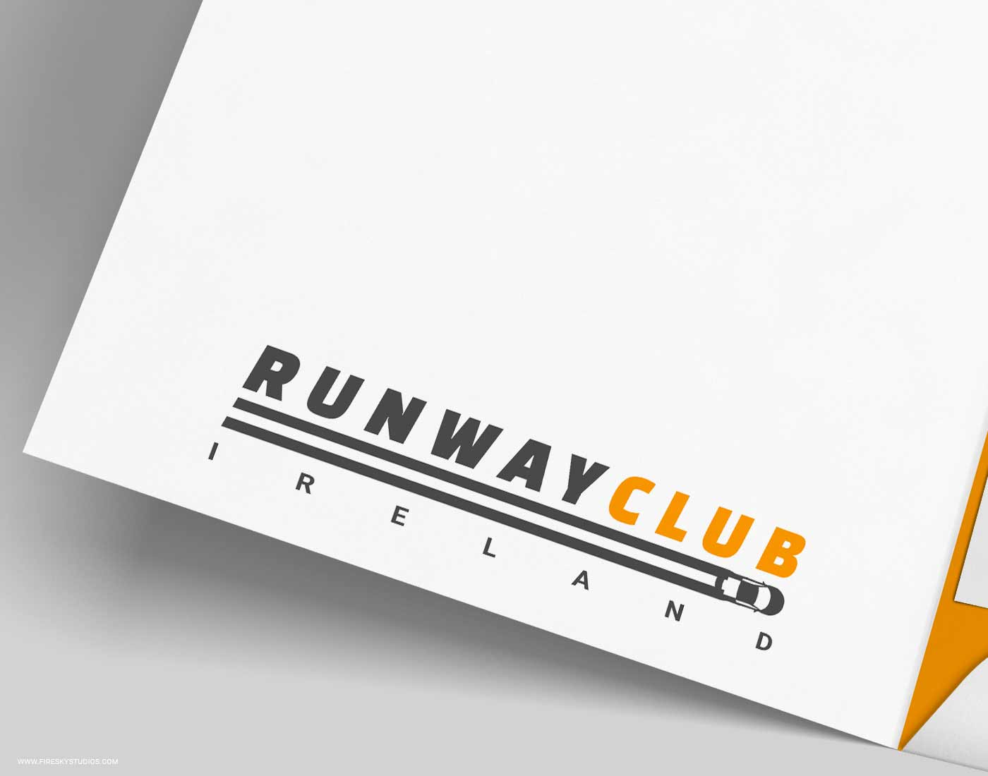 Close Up Of Logo On Presentation Folder