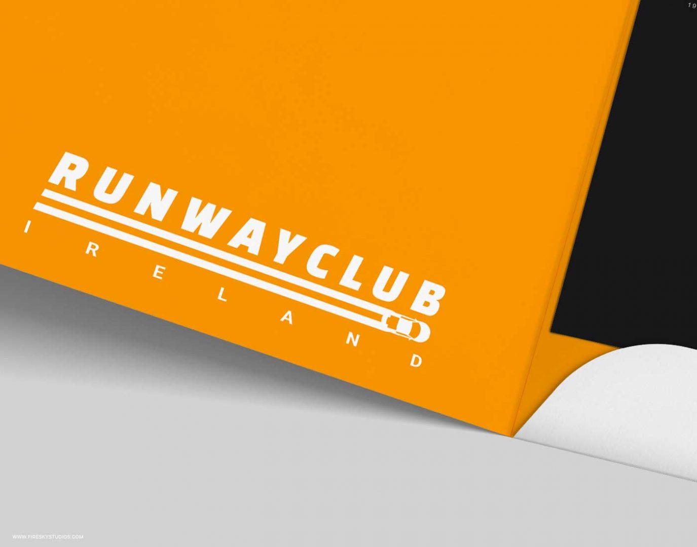Close up of logo on presentation folder