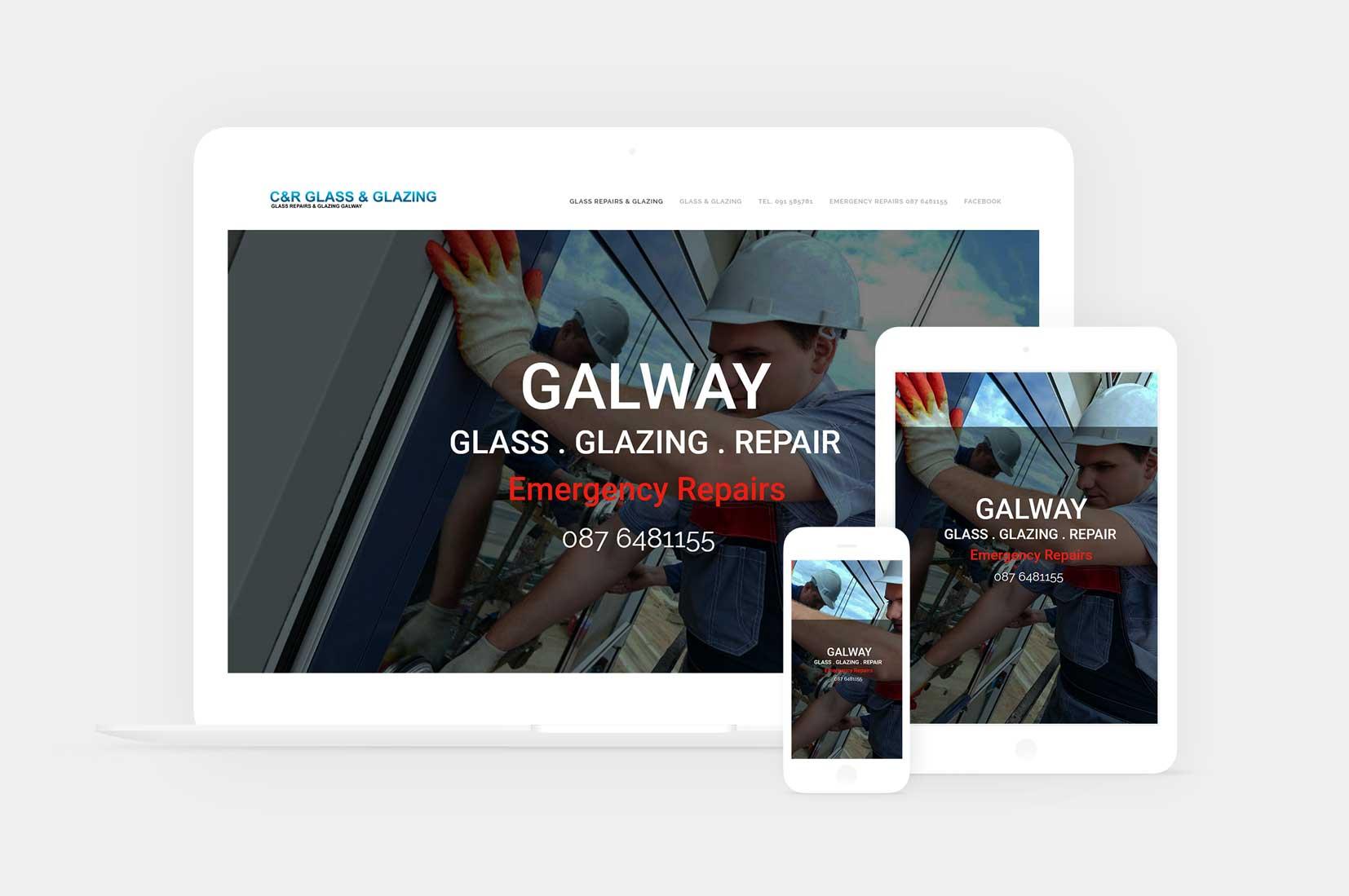 Website design for glass galway