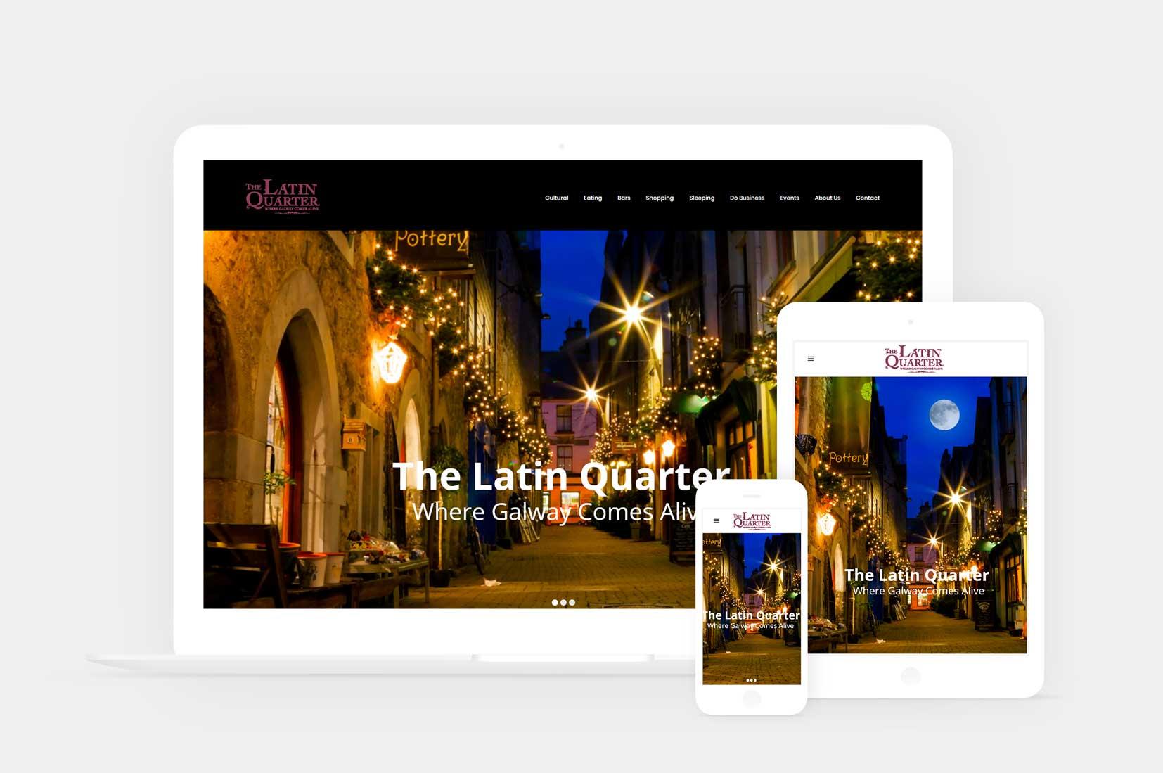 The latin quarter website development project