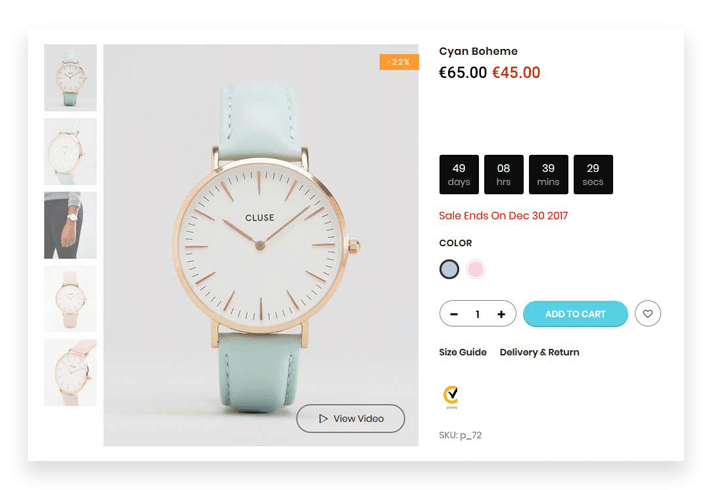 Layout Design On A Shopify Single Product Page