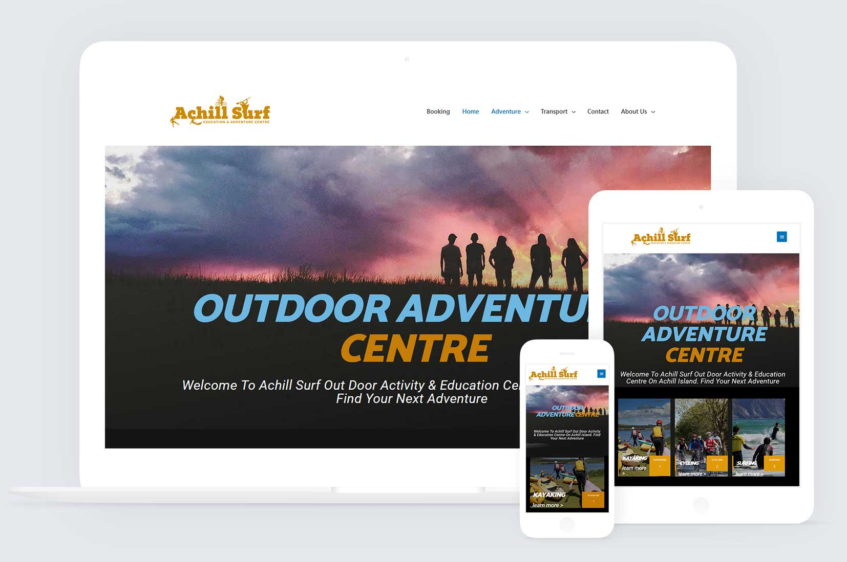 Redesign & Branding For An Adventure Centre In Mayo