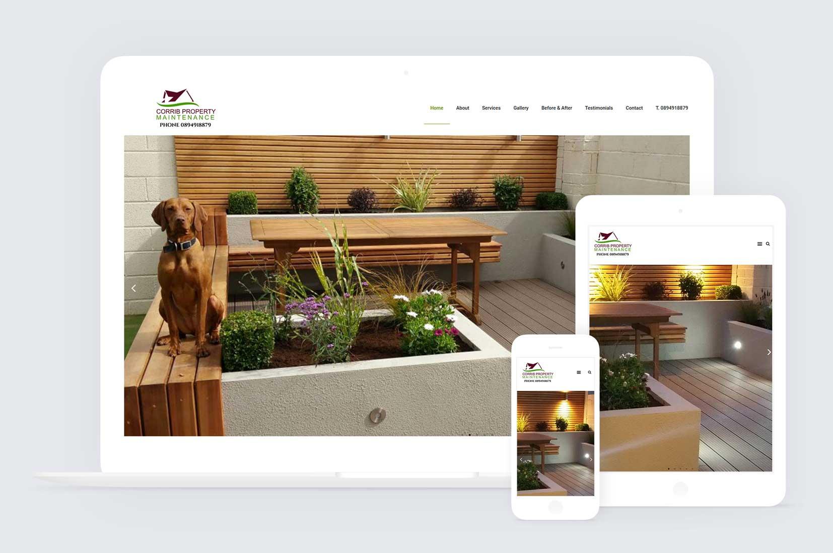 Website design for coribb property in oranmore galway