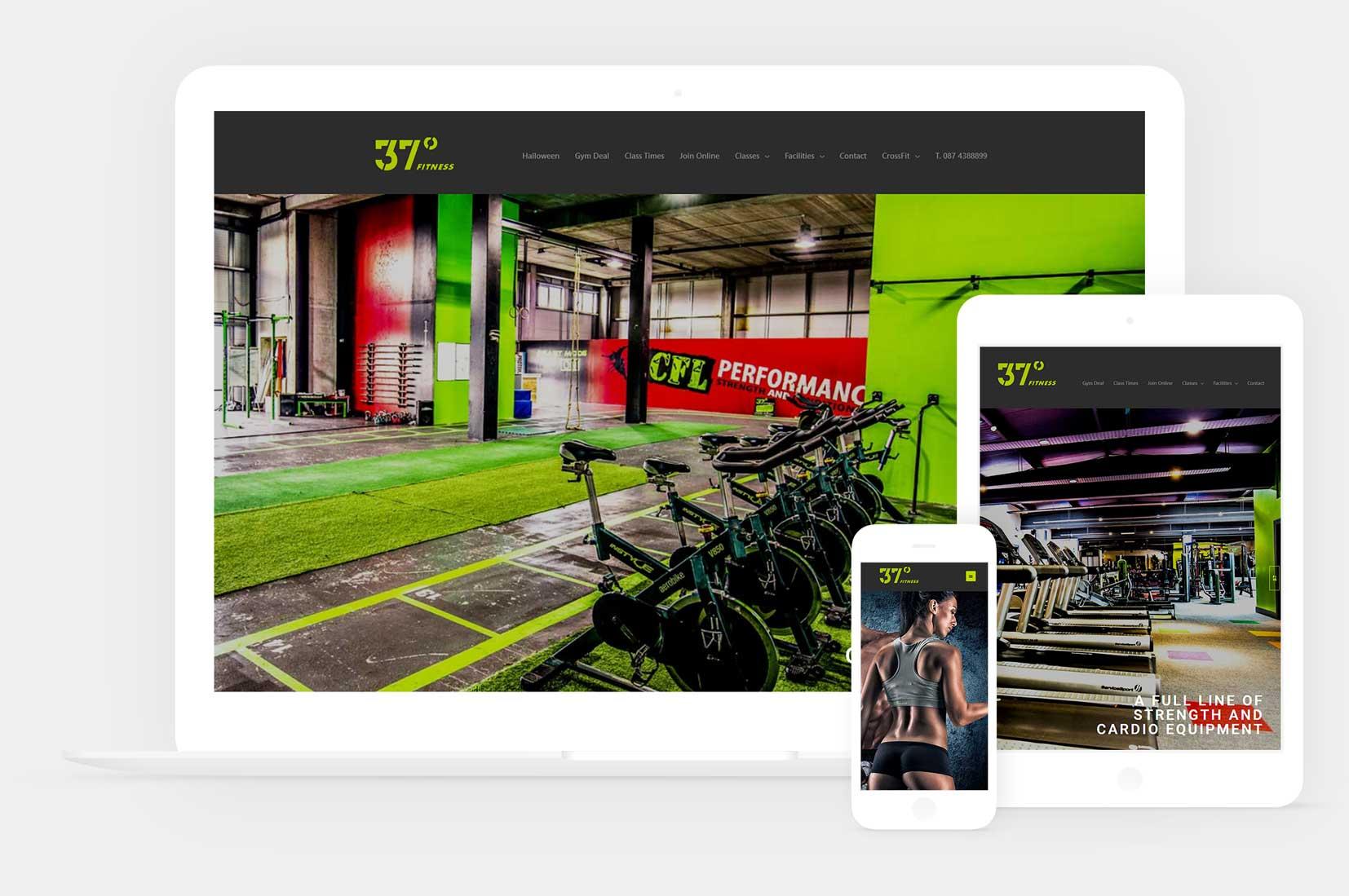 Web design for a gym in loughrea
