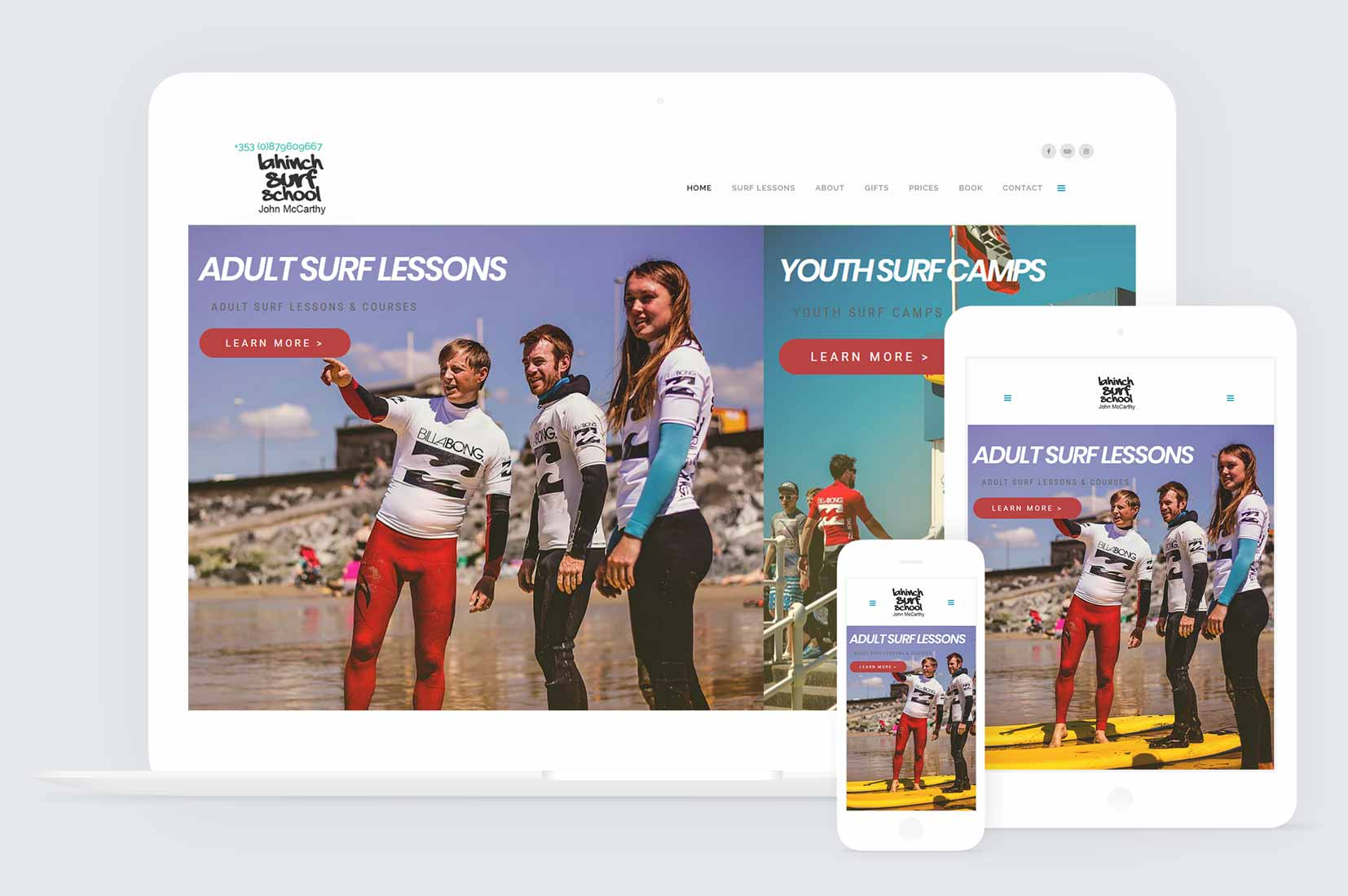 Adaptive Website Design For Lahinch Surf In County Clare