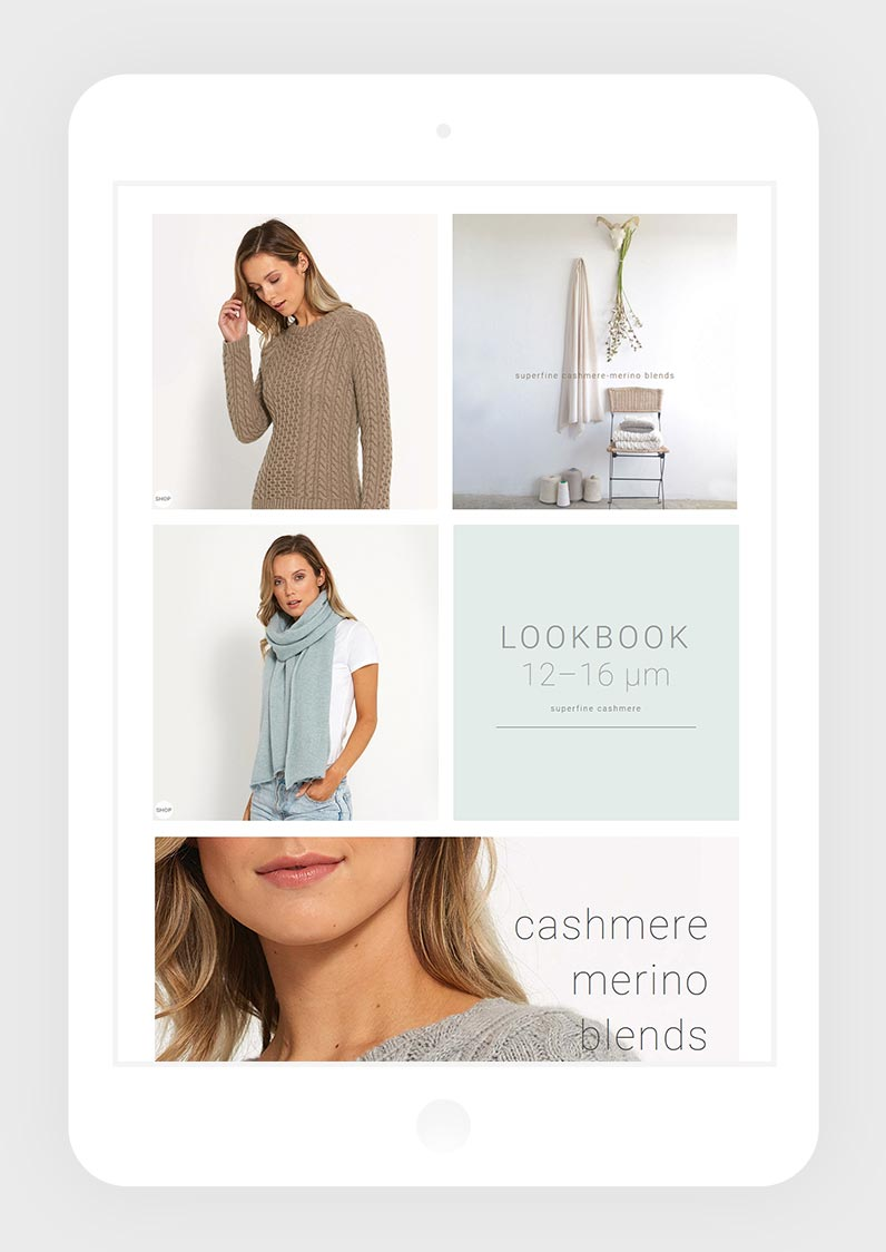 Look Book Page Layout Designed For Tablet Portrait View