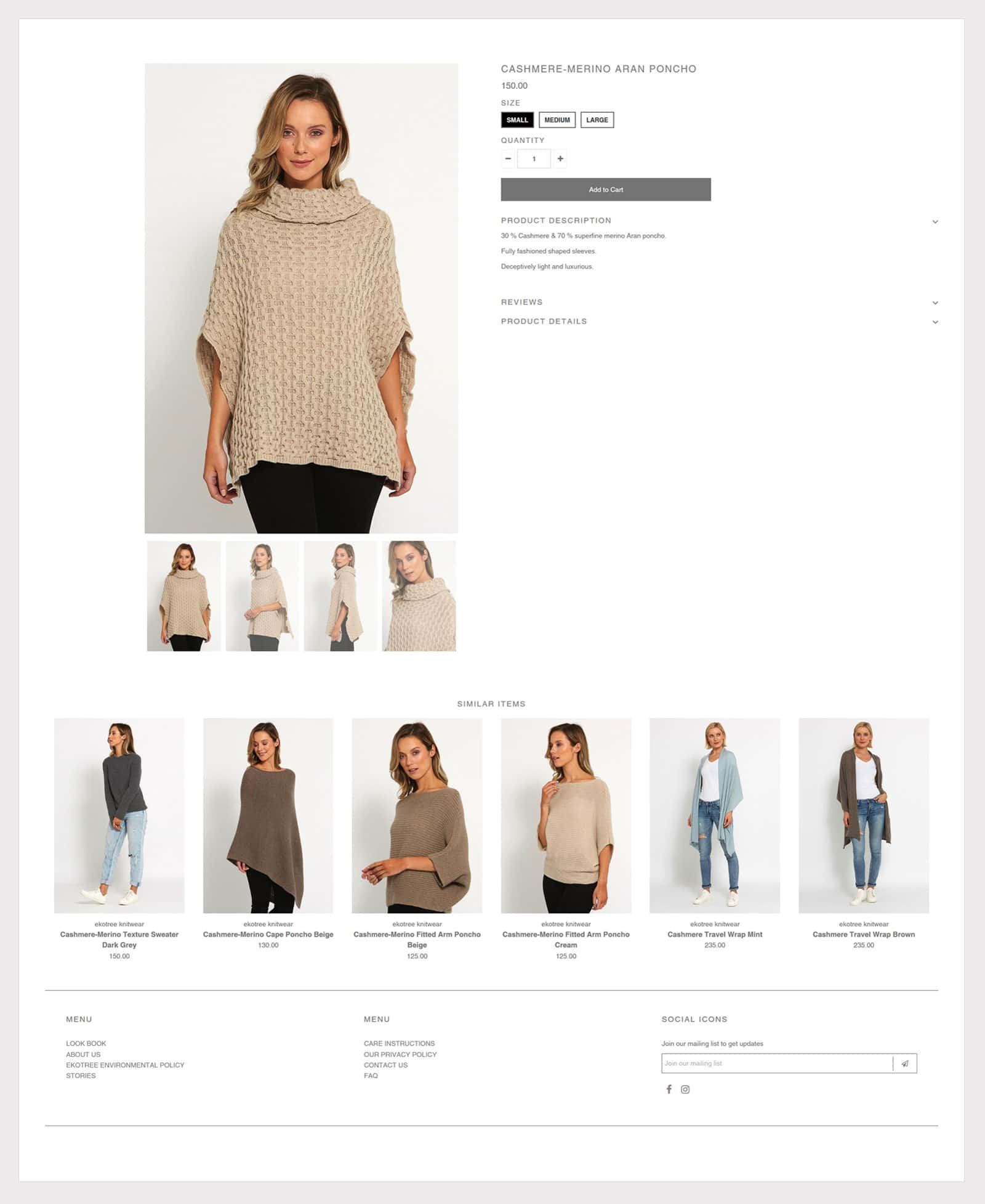 Shopify Designed Product Page Layout