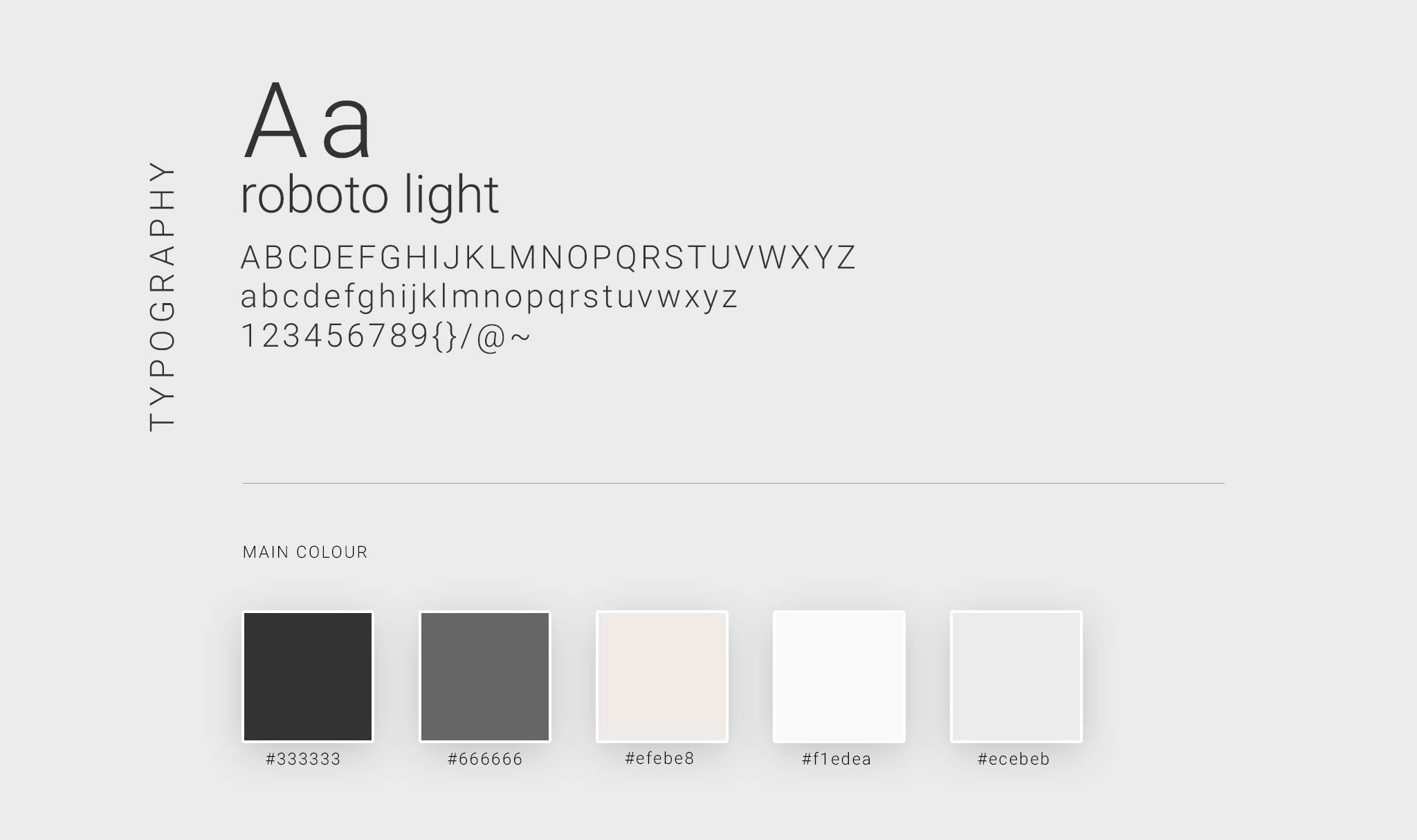 Typography Layout & Colour Palette