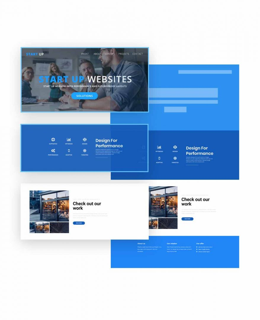 Web Design In Blocks and Sections