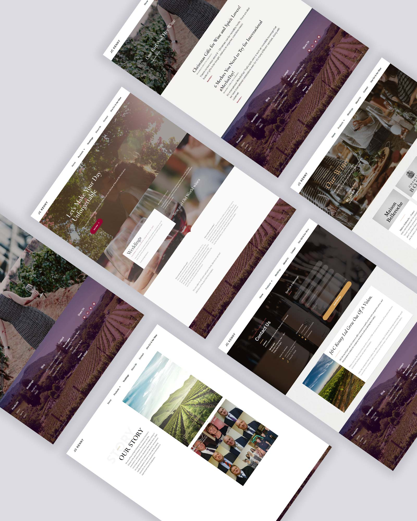 Angled Perspective Website Showcase