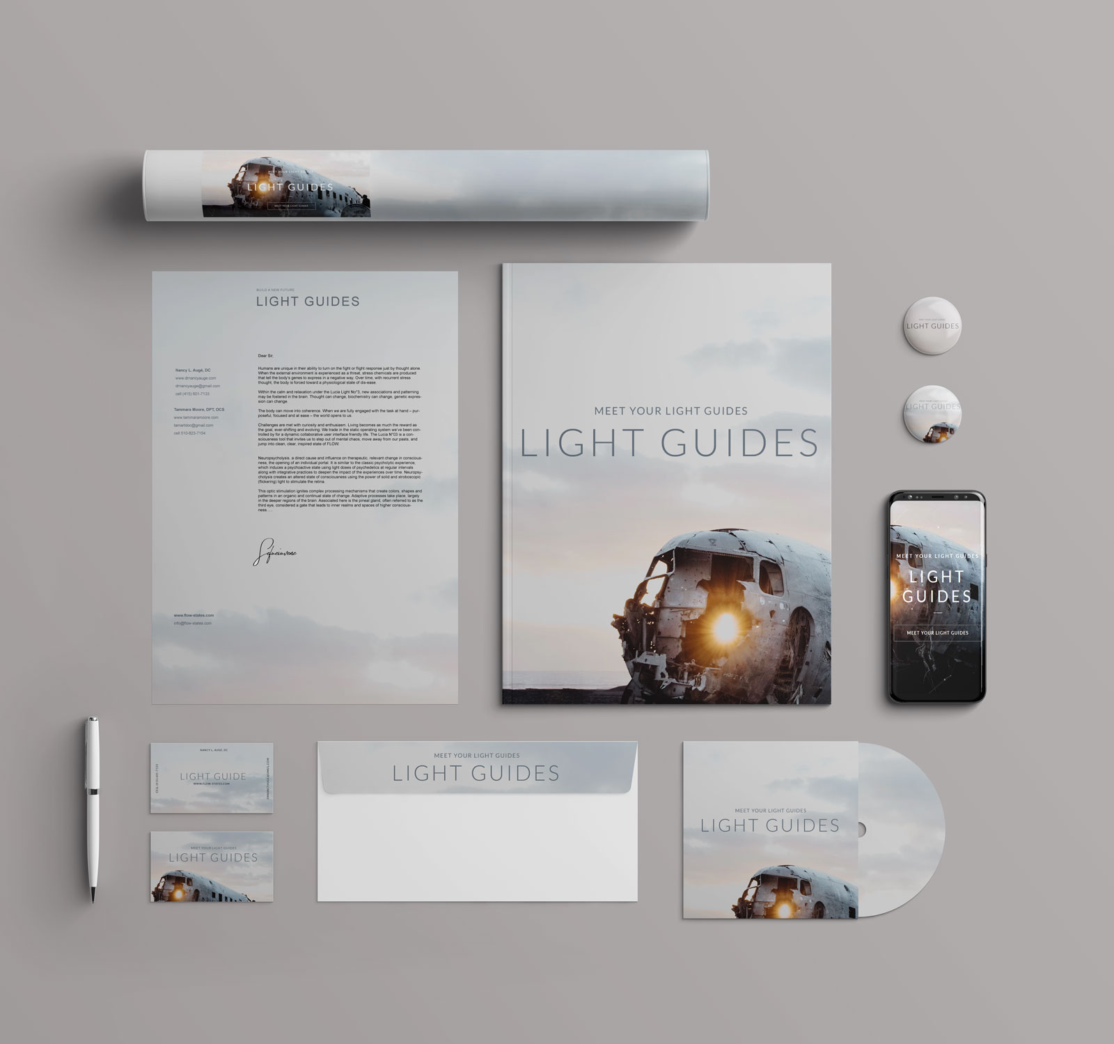 Brand Stationery Design For Flow States