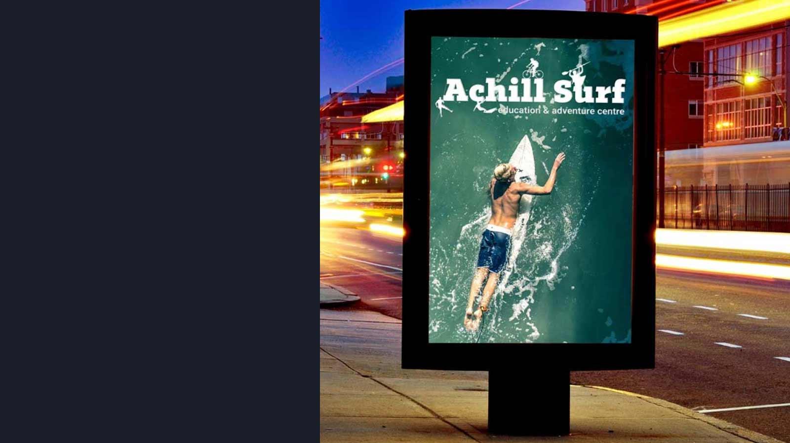 Outdoor Bill Board Display Achill Surf