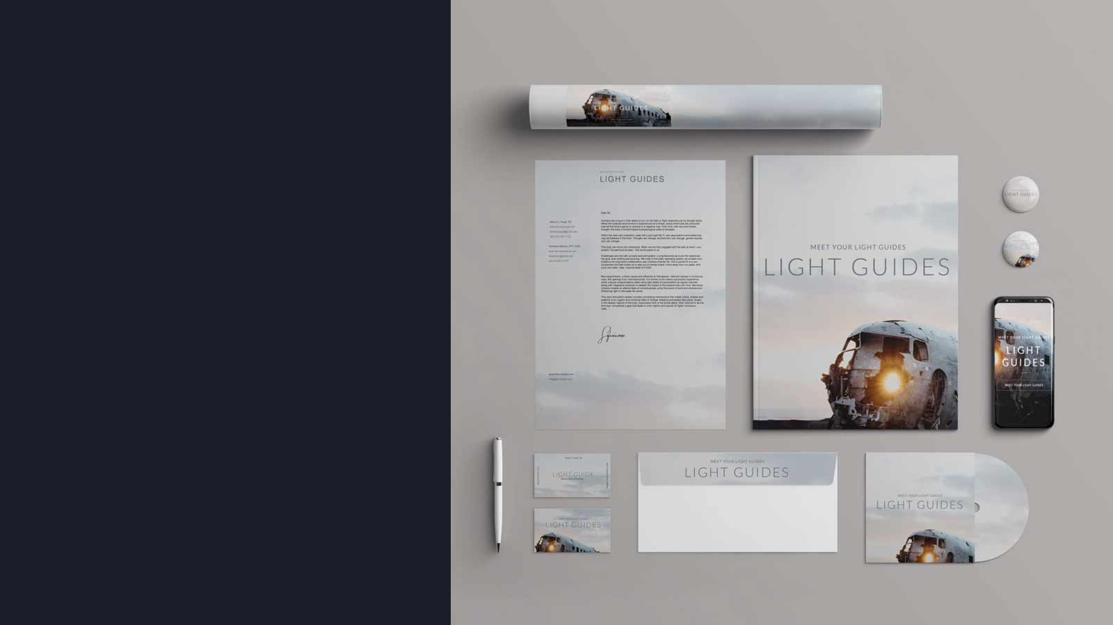 Brand Design Presentated On Printed Material