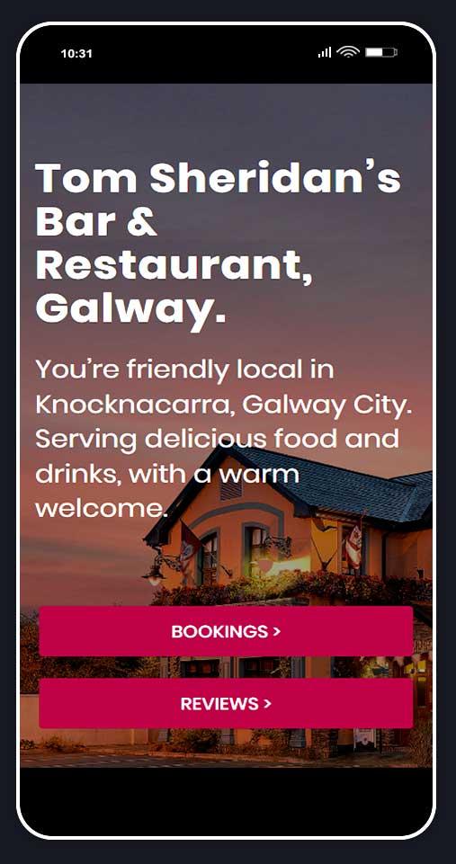 Ui design for restaurant