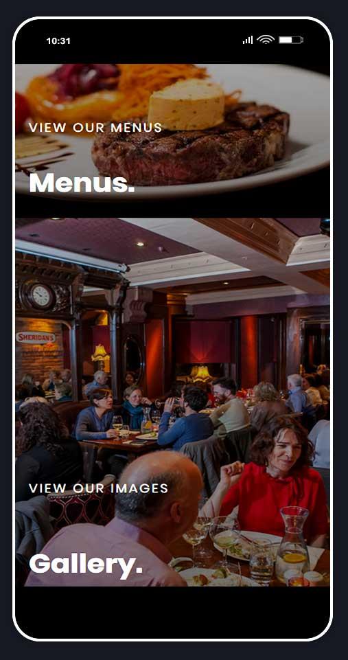 Website design for restaurant 2