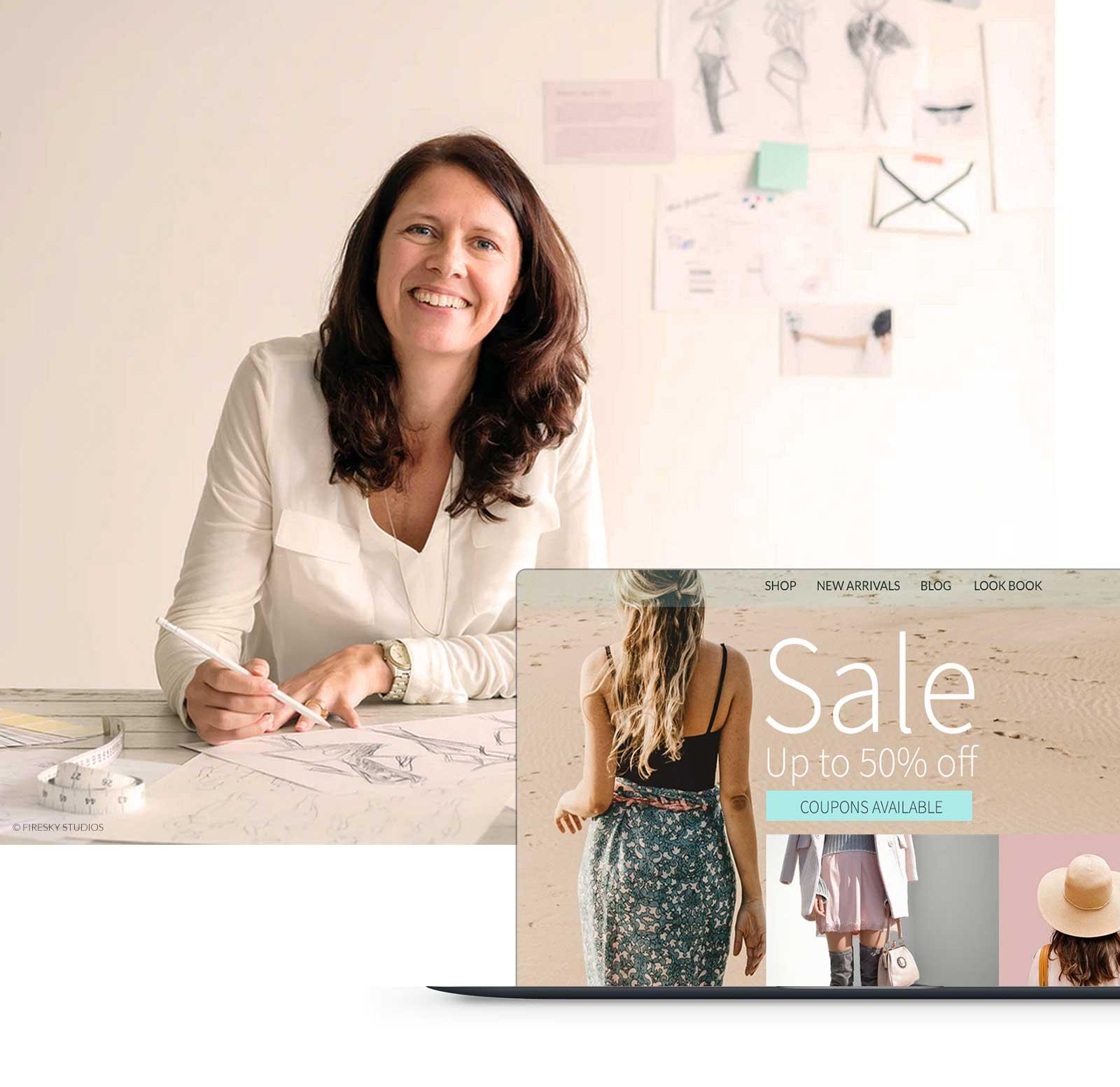 Fashion Design Showcasing Her Online Shop