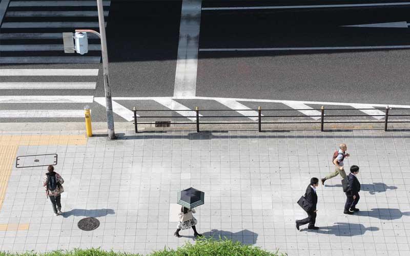 People walking in a street