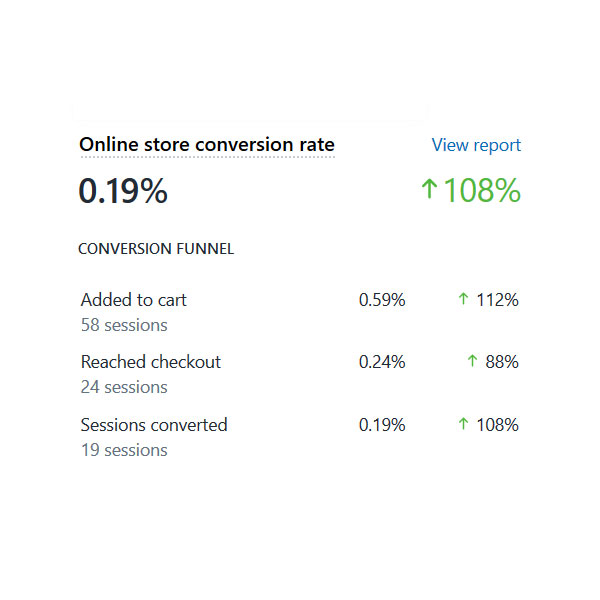 Report On Shopify Conversion Rates
