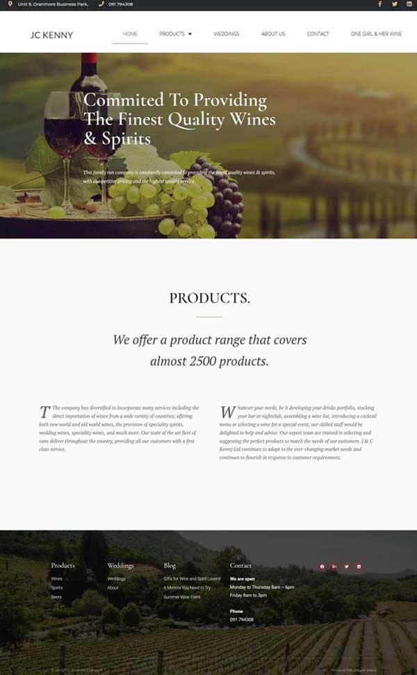 Wine Conpany Website
