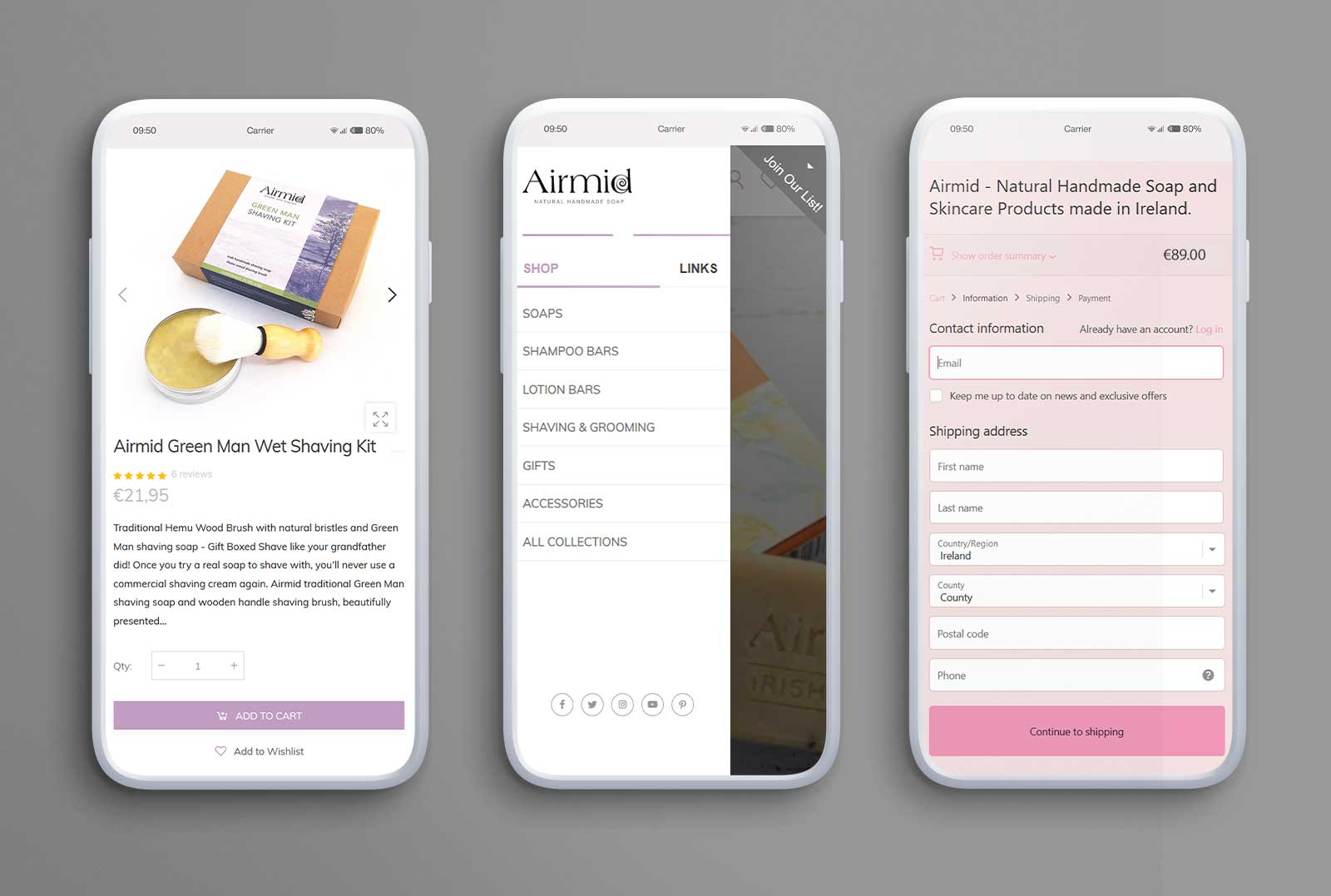 Three Displays UI Design On Smartphone