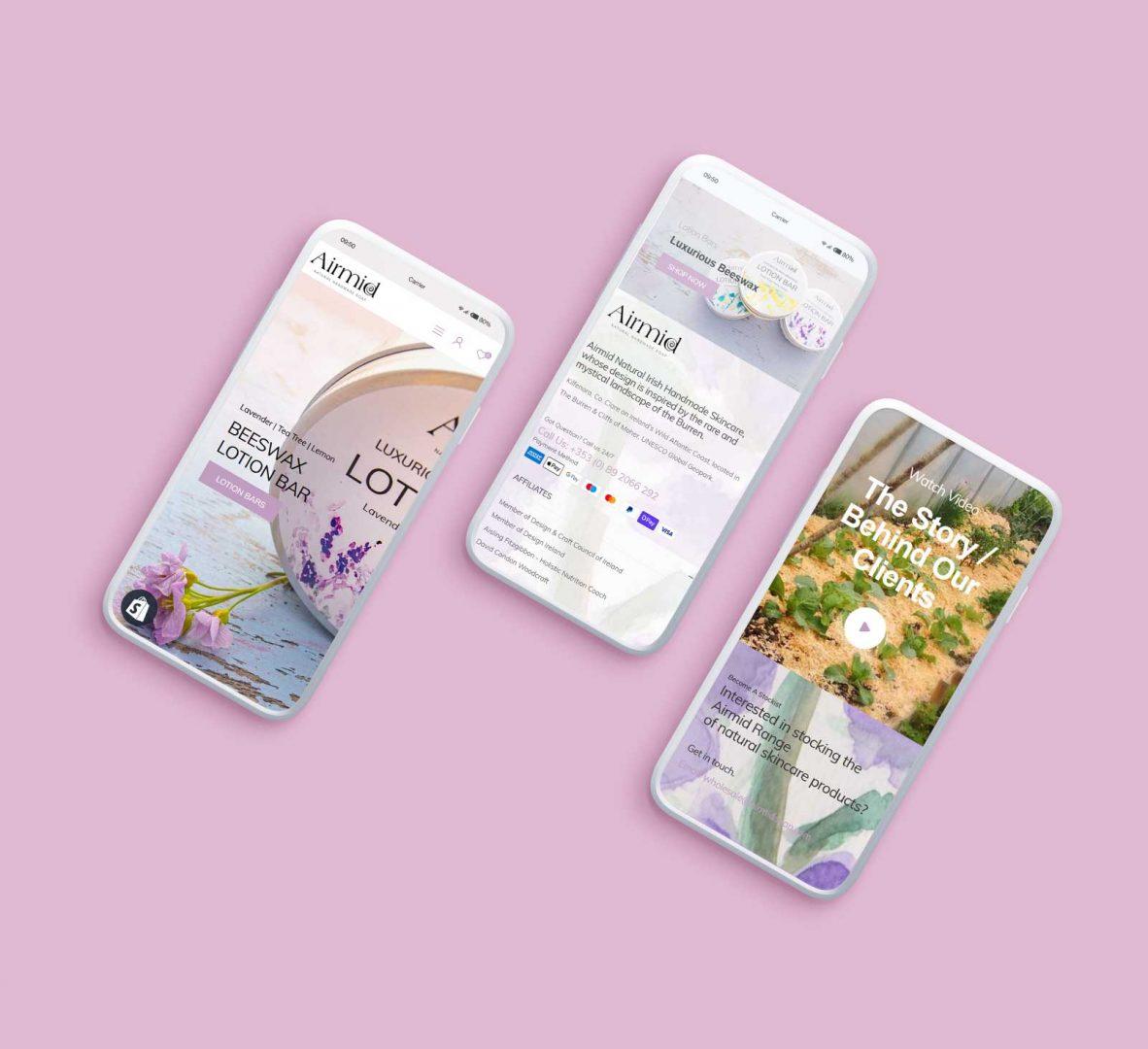 UI Design & Display On Three Smart Phones