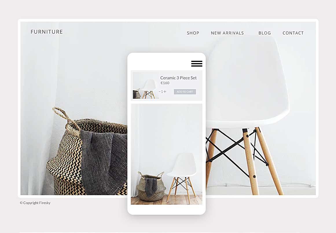 Furniture shop template design