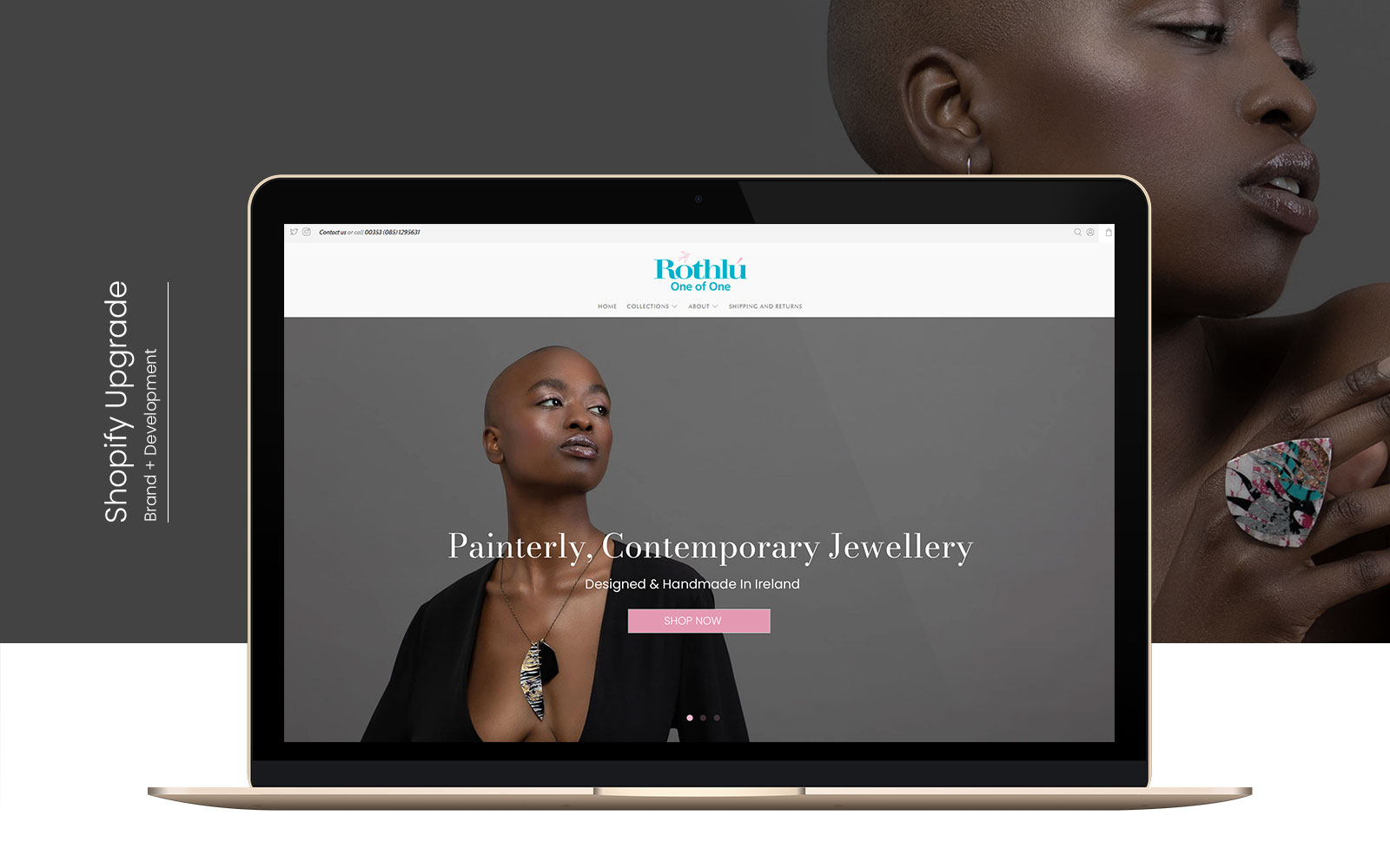 Shopify Upgrade Rebrand For Jewellery Store