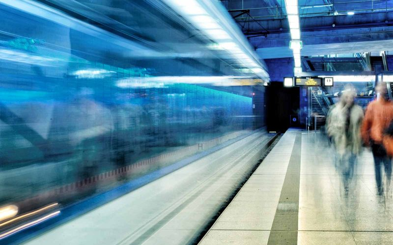 Increase website speed {fast train image}