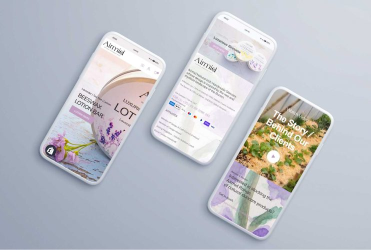 Shopify-website-presented-on-smartphone